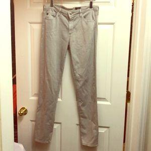 Light grey denim AJ jeans for sale